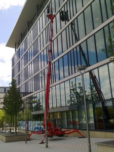 Spiderlift window cleaning